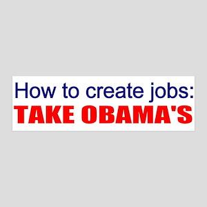 Anti-Obama jobs creation 21x7 Wall Peel