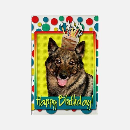 Birthday Cupcake - Vallhund Rectangle Magnet (10 p