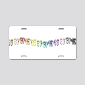 Rainbow Wave Aluminum License Plate