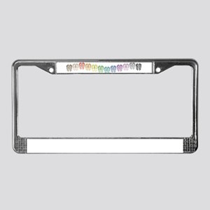 Rainbow Wave License Plate Frame