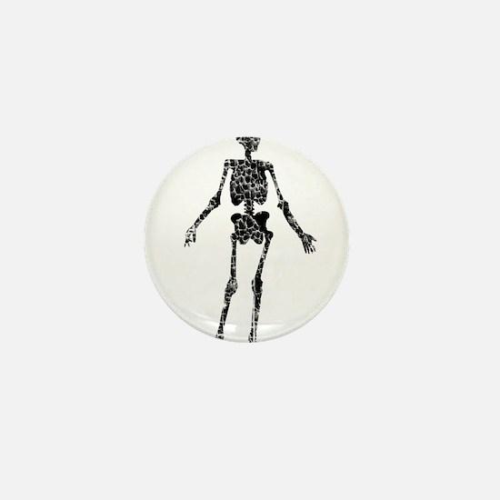 Skeleton, Worn, Mini Button