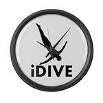 iDive Diving Large Wall Clock