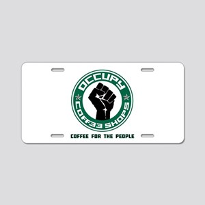 Occupy Coffee Shops Aluminum License Plate