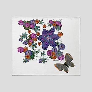 Summer Floral Throw Blanket
