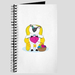 Sheep Knitting Heart Journal