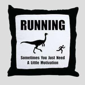 Running Motivation Throw Pillow