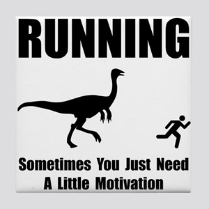 Running Motivation Tile Coaster