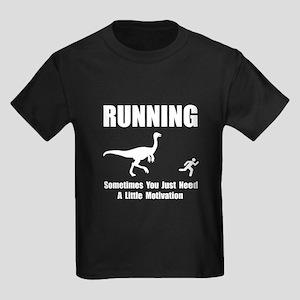 Running Motivation Kids Dark T-Shirt