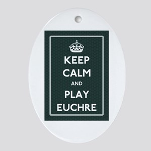 Euchre Oval Ornament