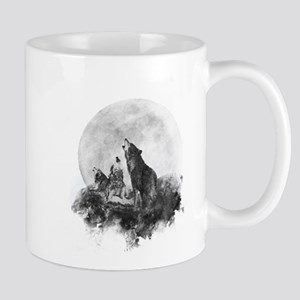 Three Wolves Howling at the Moon Mugs