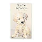 Golden Retriever Puppy Sticker (Rectangle 10 pk)