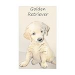 Golden Retriever Puppy Sticker (Rectangle 50 pk)