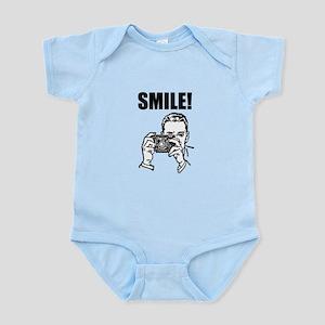 Vintage Camera Smile Infant Bodysuit