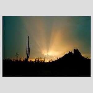 Desert Sun Beams near Phoenix AZ