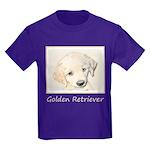 Golden Retriever Puppy Kids Dark T-Shirt