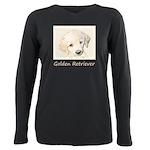 Golden Retriever Puppy Plus Size Long Sleeve Tee