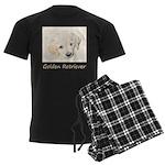 Golden Retriever Puppy Men's Dark Pajamas