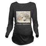 Golden Retriever Pup Long Sleeve Maternity T-Shirt