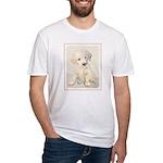Golden Retriever Puppy Fitted T-Shirt