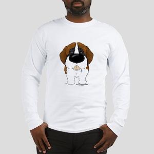 Big Nose St. Bernard Long Sleeve T-Shirt