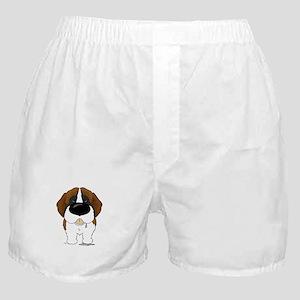 Big Nose St. Bernard Boxer Shorts