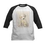 Golden Retriever Puppy Kids Baseball Jersey