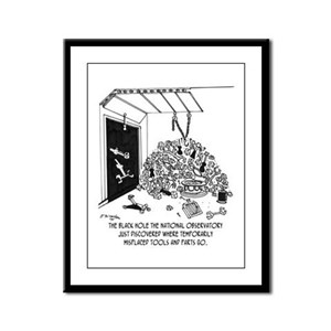 Black Hole Filled With Tools Framed Panel Print