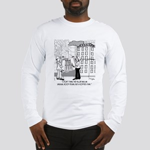 Coffee Stain, Not Roof Design Long Sleeve T-Shirt