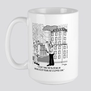 Coffee Stain, Not Roof Design Large Mug