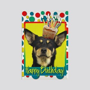 Birthday Cupcake - Kelpie Rectangle Magnet