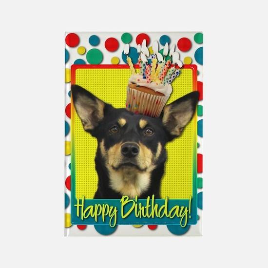 Birthday Cupcake - Kelpie Rectangle Magnet