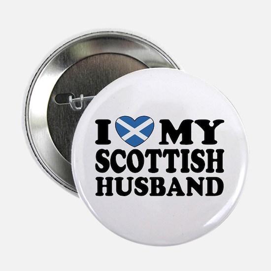 I Love My Scottish Husband Button