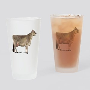 Brown Swiss Cow Drinking Glass