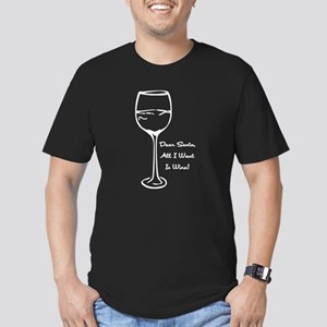 Dear Santa, Men's Fitted T-Shirt (dark)