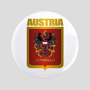 """Austria Gold"" 3.5"" Button"