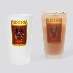 """Austria Gold"" Drinking Glass"