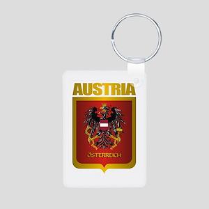 """Austria Gold"" Aluminum Photo Keychain"