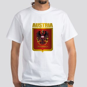 """Austria Gold"" White T-Shirt"