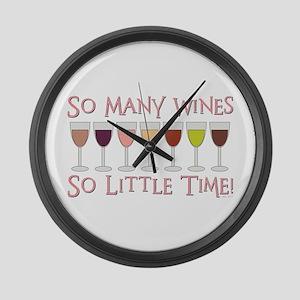 So Many Wines... Large Wall Clock