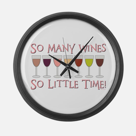 So Many Wines... Large Wall Clock