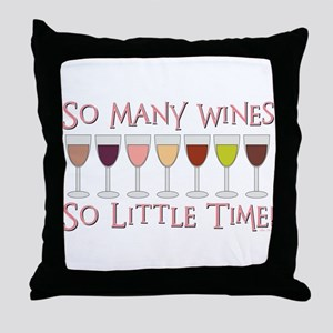So Many Wines... Throw Pillow