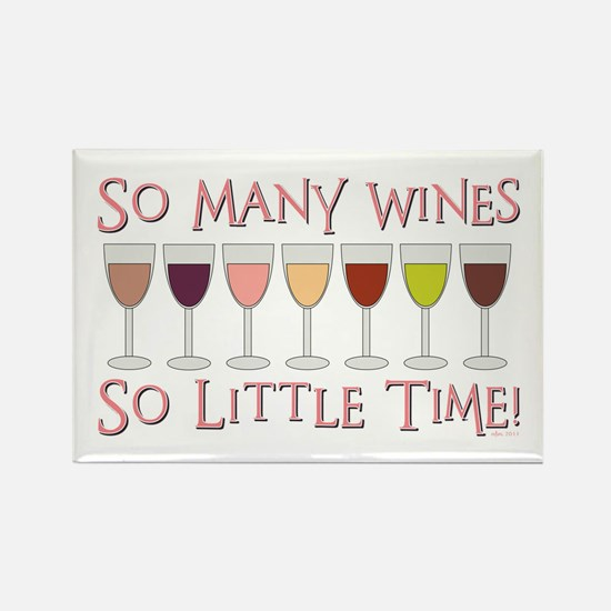 So Many Wines... Rectangle Magnet (10 pack)
