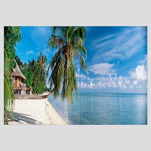 House on the beach, Matira Beach, Bora Bora, Frenc