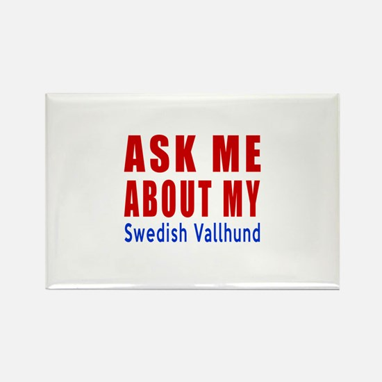 Ask About My Swedish Va Rectangle Magnet (10 pack)