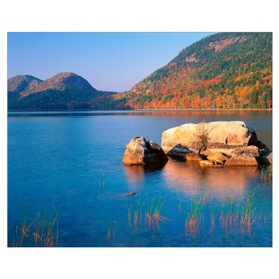 Maine, Acadia National Park, Jordon Pond Canvas Art