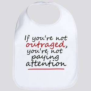 'Outraged' Cotton Baby Bib