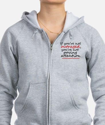 'Outraged' Zip Hoodie