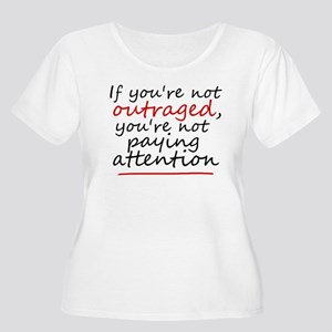 'Outraged' Women's Plus Size Scoop Neck T-Shirt