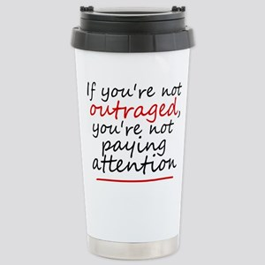 'Outraged' 16 oz Stainless Steel Travel Mug