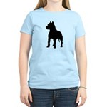 Pit Bull Terrier Silhouette Women's Light T-Shirt